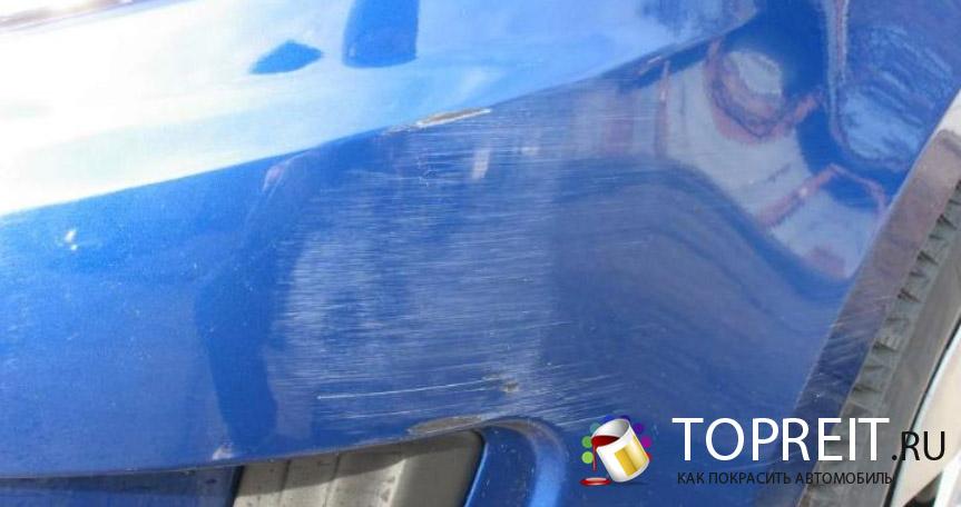 царапины на автомобиле