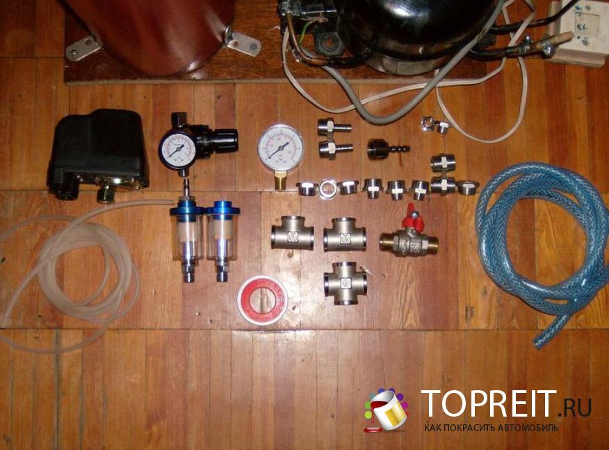 разобранный компрессор