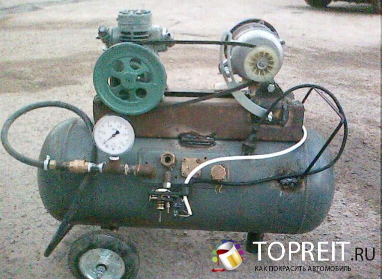 один из первых самодельных компрессоров