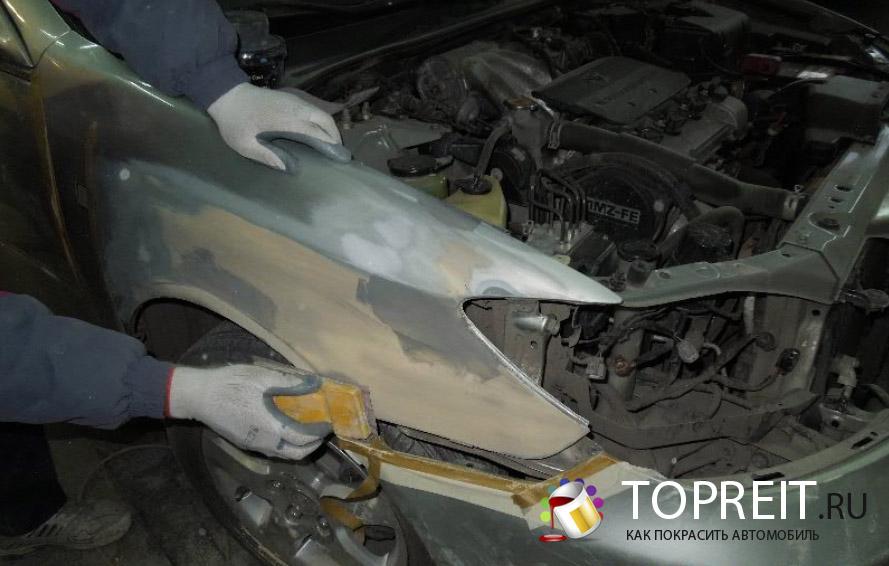 Покрасить новое крыло автомобиля своими руками