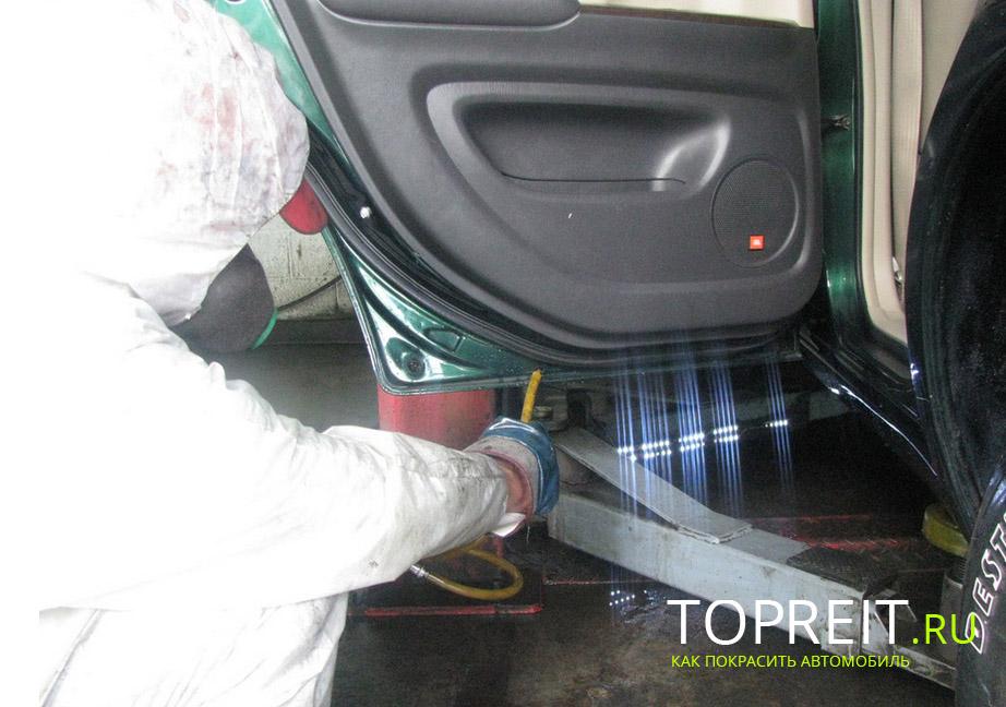 Мастика защита дверей от коррозии наливной резиновый пол в гараже
