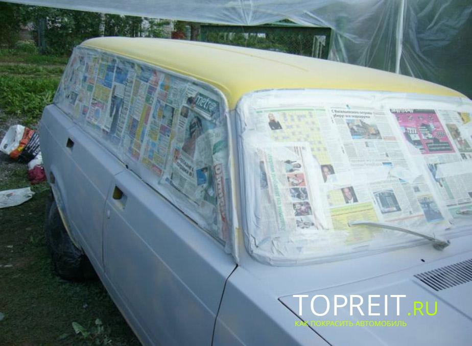 покраска машины в домашних условиях
