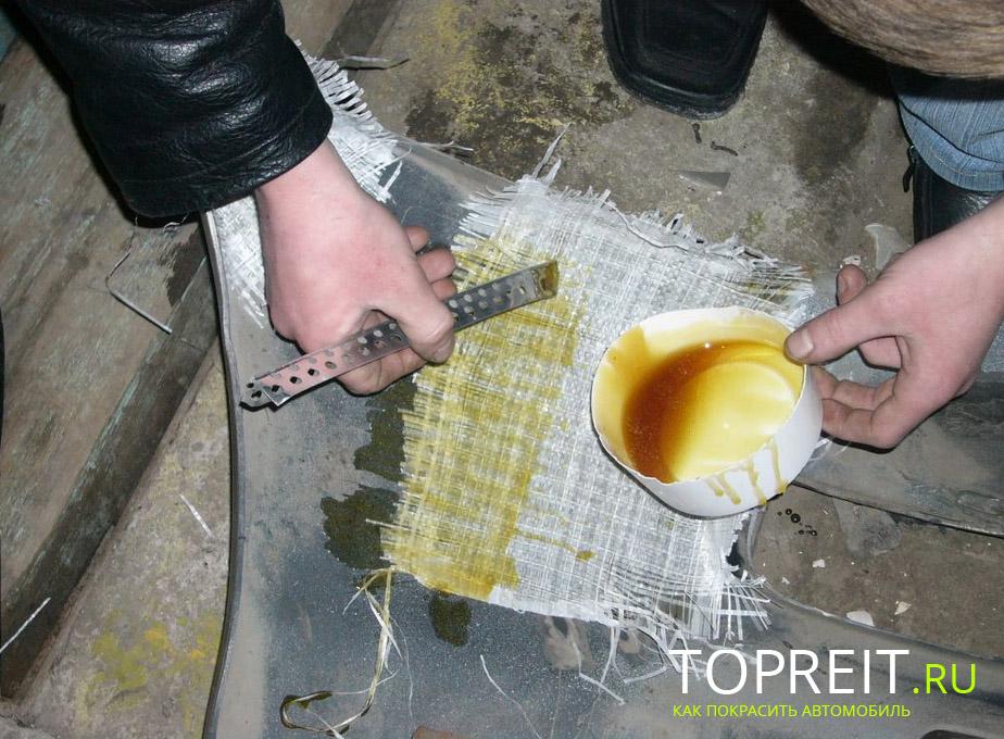 Как склеить бампер своими руками