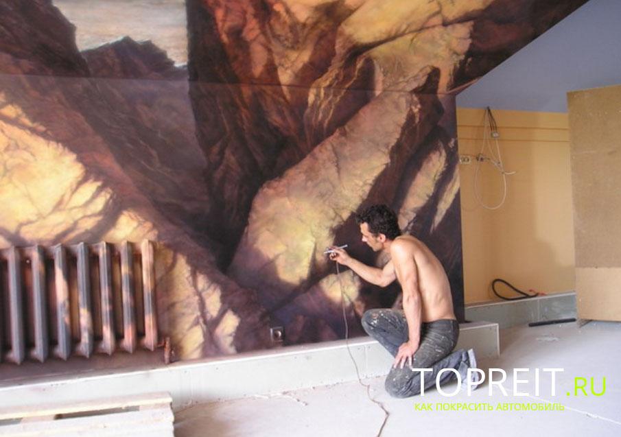 рисуем на стене