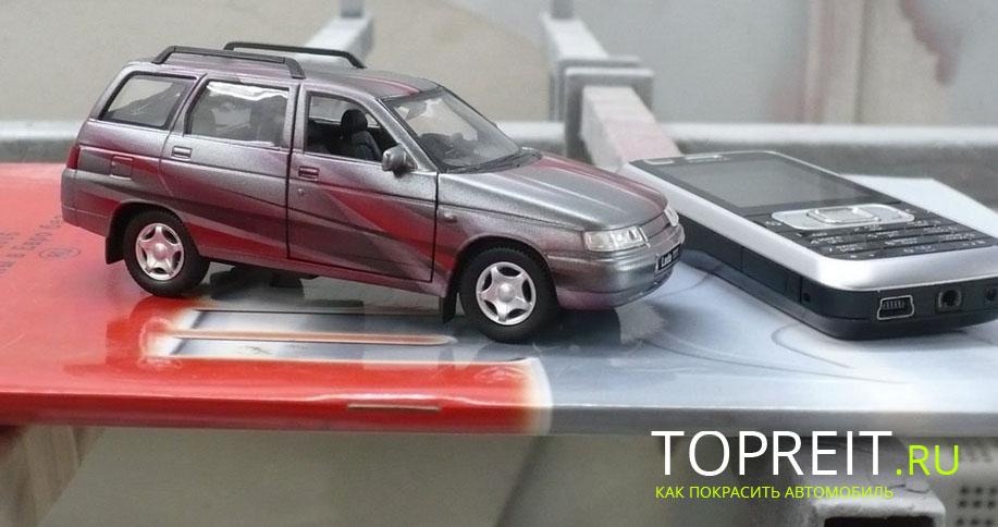 модель автомобиль для покраски аэрографом