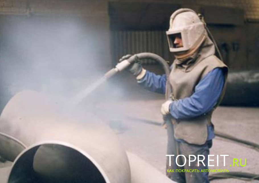 Пескоструйная обработка металла на днище и кузове автомобиля, видео