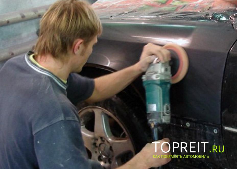 Как правильно полировать машину видео
