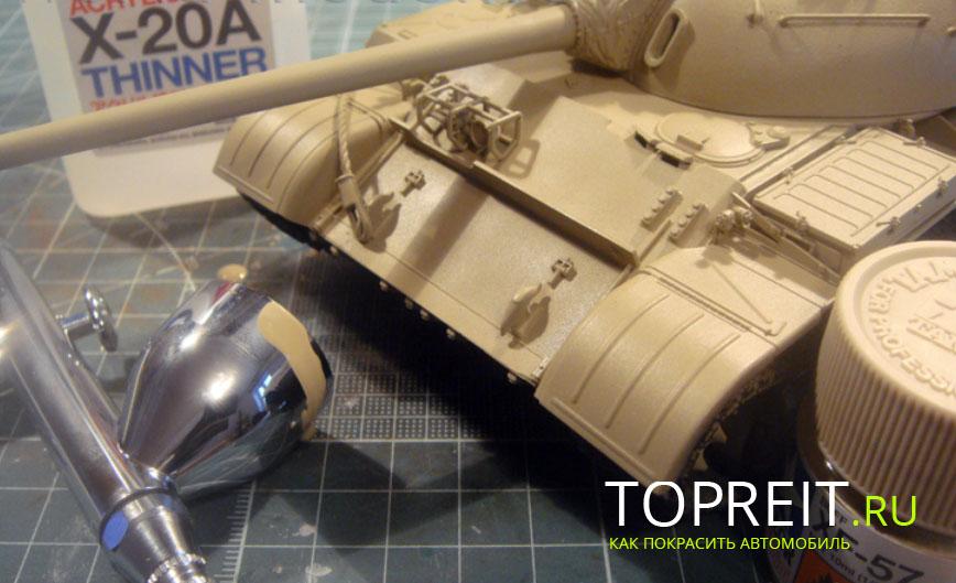 моделька танка для покраски